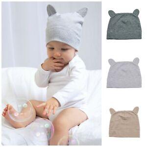 Organic Cotton New Baby Boy Girl Newborn Infant Hat with Ears Cute Beanie Cap