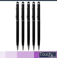 5x Touchpen Stylus Eingabestift mit Kugelschreiber schwarz Smartphone Tablet