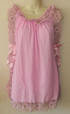 New Women Vintage Penneys Intimate Soild Pink Babydoll With Panty Size S NWT