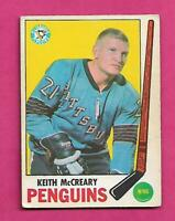 1969-70 OPC # 114 PENGUINS KEITH MCCREARY VG CARD (INV# C5338)
