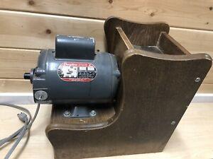 Vintage Magic Mill Wheat Grain Grinder Dayton 3/4-HP Electric Motor Wood Cabinet