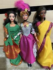 Lot Of Dolls Of the World 1990 Collection Barbies Diwali, South Indian & French