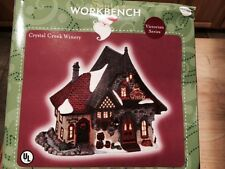 Santa's Workbench Lighted House Victorian Series CRYSTAL CREEK WINERY