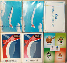 6x Playing Cards China Airlines Carnival Cruise + Princess Ship Vancouver 2010
