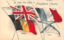POSTCARD  MILITARY   PATRIOTIC   The  Flags that fight in  Freedom's  Cause