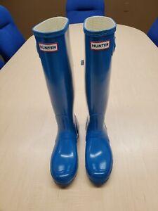 New Women's Hunter Rain Boots in Blue Size 8