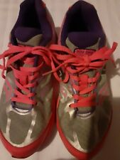 Saucony Kinvara 4 Girls Athletic Shoes Size 3.5 Medium gray pink purple Preowned