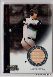 ADAM DUNN, 2004 Bowman Sterling Bat Relic Card #BS-AD, Cincinnati Reds