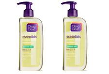 2 x Clean & Clear Essentials Foaming Facial Cleanser Sensitive Skin Step 1 8oz