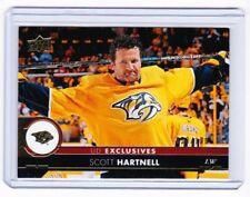 17-18 2017-18 Upper Deck Exclusives #359 Scott Hartnell 058/100 Predators