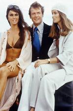 Roger Moore Caroline Munro bikini Barbara Bach James Bond girl 11x17 Mini Poster