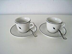 Nespresso 6er Set Espresso Tassen Untertassen L/öffel Classic Kaffee Tee Kakao
