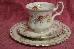 Royal Albert Cup,Saucer & Plate - Jubilee Rose