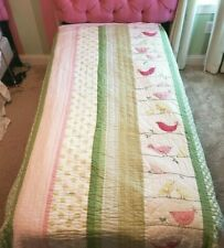 Pottery Barn Kids Penelope Bird Twin Quilt Never Used