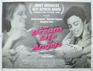 THE DREAM LIFE OF ANGELS (1998) Quad Film Poster Elodie Bouchez, Natacha Regnier