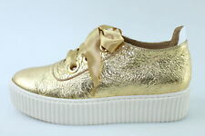 scarpe donna LEMARE' 37 sneakers oro pelle DR005