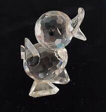 Small Vintage Signed Swarovski Crystal Baby Duck Figurine #7660