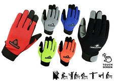 Mens Gardening Work Gloves Carpenter Builder Mechanic Leather Safety Gloves