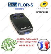 TELECOMMANDE NICE FLOR S 2 FLO2 R-S FLO2R-S 2 boutons 433,92Mhz