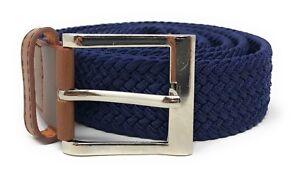 Casaba Stretch Golf Braided Belts Woven Elastic Adjustable 4 Sizes Mens Womens