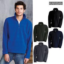 Kariban Men's Enzo Zip-Neck Microfleece Top (K912) - Adult Winter Warm Jacket