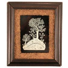 Antique Folk Art Cut Paper Woodland Scene c. 1860s - Scherenschnitte - AAFA
