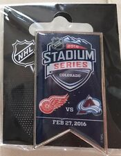 2016 STADIUM SERIES BANNER PIN COLORADO AVALANCHE VS RED WINGS COORS FIELD