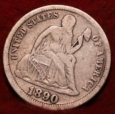 1890 Silver Philadelphia Mint Seated Liberty Dime