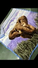 Fluffy Thick Blanket With Elephant Picture On It 85x85inches Local Pickup Only!