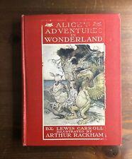 ALICE'S ADVENTURES IN WONDERLAND Arthur Rackham 1st Edition Heinemann