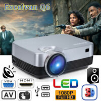 5000 Lumens Portable Full HD 1080P LED Multimedia Projector HDMI VGA Home Cinema