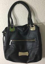 Michael Kors Black Pebble Leather Drawstring Snap Shoulder Tote Bag C-0911 Rare