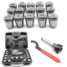 15 ER32 Spannzangen Set für CNC Fräse 3-20mm+MK3 M12 Spannzangenfutter+Schlüssel