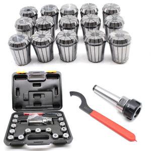 TOP 3-20mm/0.1-0.8Inch ER32 Precision Milling Collet Set MT3 Shank Chuck Spanner