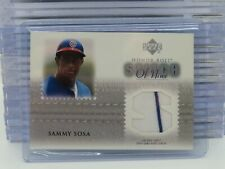 2002 Upper Deck Sammy Sosa Honor Roll Game Used Jersey Relic Cubs U1