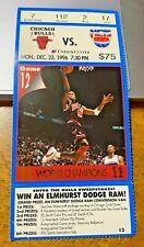 Dec 23,1996 Bulls v Net Ticket Stub-Jordan 24pts Pippen 20pts +  All Star Ballot
