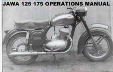 Jawa Sport 125 175 Cz Operation Manual - Model 476 477 Motorcycle Service Repair