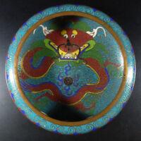 19. Jhd antiker chinesischer Cloisonne-Pinselwascher Schale Qing Dynastie China
