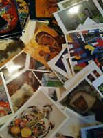 Vintage postcard lot, museum postcard unposted, laminated, sm flat rate box full