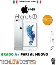 Apple Iphone 6s 64GB Bianco Silver Ricondizionato Rigenerato Grado A+++ Garanzia