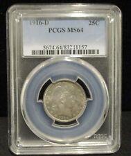 1916-D Barber Silver Quarter -  PCGS MS64 - 157        ENN COINS