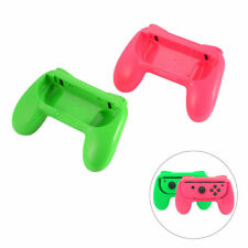 2 x Pink and Green Controller Grip Handles for Nintendo Switch Joy-Con