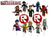 USA 12 ROBLOX 3D CAKE TOPPER Cupcake Toppers SUPPLIES BIRTHDAY Party Favors