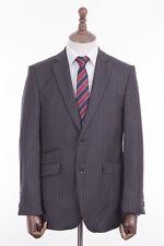 Men's Savile Row Suit Alexandre Grey Pinstripe Tailored Fit 40R W34 L31