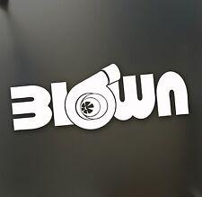 turbo blown boost sticker Funny JDM Drift Honda lowered car window racing decal