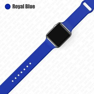 Silicone Band Strap for Apple Watch Series 1/2/3/4/5/6/SE Sports 38/40/42/44mm