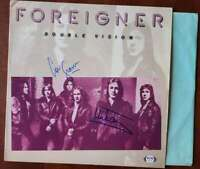 Mick Jones Lou Gramm PSA DNA Coa Signed Double Vision Album Cover W/ Vinyl Autog