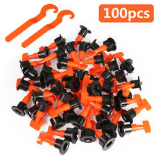 100x Tile Leveling System Kit Reusable Flat Ceramic T-Lock Locator Spacer Tools