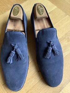 SHOEPASSION 10 / 44 Suede Wildleder Loafer Slip Ons handmade rahmengenäht Neuw