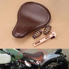"Motorcycle 3"" Spring Solo Bracket Seat Copper For Harley Chopper Bobber Custom"